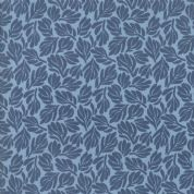 Grand Canal by Kate Spain - 5071 - Fiori, Modern Leaf Print in Blue - 27257 12 - Cotton Fabric